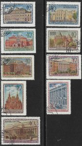 RUSSIA USSR 1950 MUSEUMS Set Sc 1449-1457 CTO Used