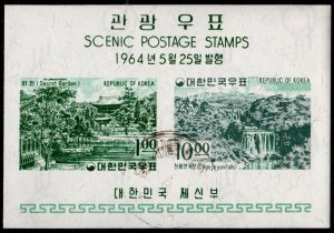 Korea - Cancelled Souvenir Sheet Scott #443a (Scenic Views)