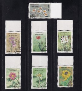 Kyrgyzstan   #33-39  cancelled   1994   endangered flowers