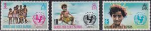 Gilbert & Ellice Islands 193-195 25th Annlv, of UNICEF 1971