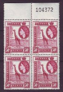 J24540 JLstamps 1954-9 kenya uganda tanzania blk/4  mnh #110 giraffe