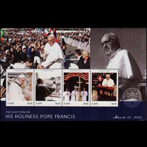ST.KITTS 2012 - Scott# 847 S/S Pope St.Francis NH