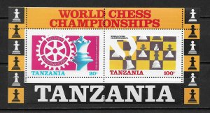 1986 Tanzania 305a Rotary Intl.& World Chess Championships MNH S/S