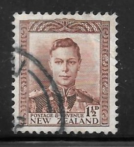 New Zealand 228: 1.5d George VI, used, F-VF