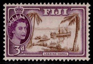 FIJI QEII SG285, 3d brown & reddish violet, M MINT.