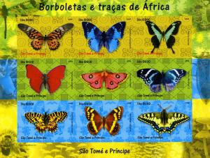 Sao Tome & Principe 2004 Butterflies Sheet Imperforated Mint (NH)