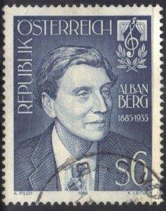 AUSTRIA   SC# 1303  USED 6s 1985  ALBAN BERG  SEE SCAN
