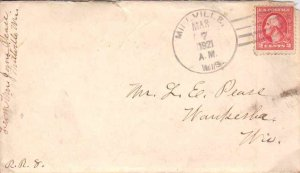 United States Wisconsin Millville 1921 4a-bar  1852-1939  Opening tear at top...