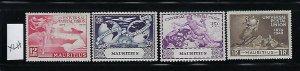 MAURITIUS SCOTT #231-234 1949 UPU ISSUE- MINT XXXLIGHT  HINGED