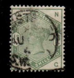 GB SG196 1883 1/= DULL GREEN USED
