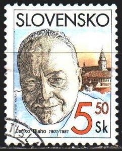 Slovakia. 2001. 386. Janko Blaho, opera singer. USED.