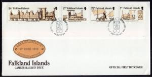 Falkland Islands 416-419 Trains U/A FDC