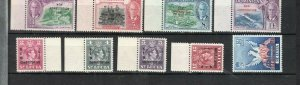 DST LUCIA 1951 NEW CONSTITUTION SET + CASTRIES VALUE UMMOUNTED MINT NO DOMINICA