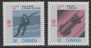 CANADA SG1236/7 1987 OLYMPIC GAMES CALGARY MNH