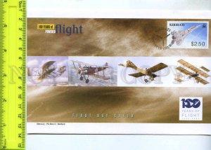 242118 KIRIBATI 100 years of FLIGHT PLANES 2003 year FDC