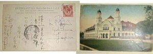 SINGAPORE  RAFFELES HOTEL CANCEL also SINGPORE,KOBE 1915
