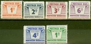 Northern Rhodesia 1963 Postage Due set of 6 SGD5-D10 V.F MNH