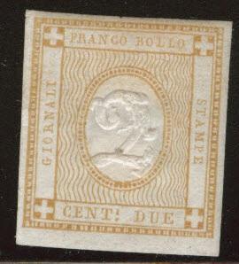 ITALY Scott P1 MH* Newspaper stamp 1862 CV $52.50
