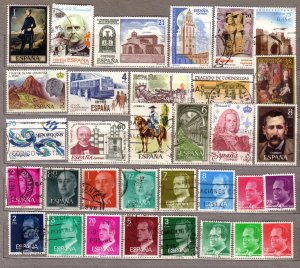 ESPANA SPAIN Different Used Stamps Lot #531