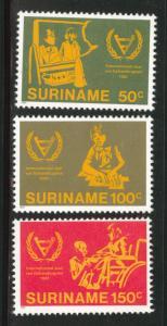 Suriname Scott 580-582 mnh** 1981 Disabled year set