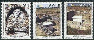 HERRICKSTAMP NEW ISSUES KOSOVO Sc.# 177-79 Archaeology-Ancient Ulpiana