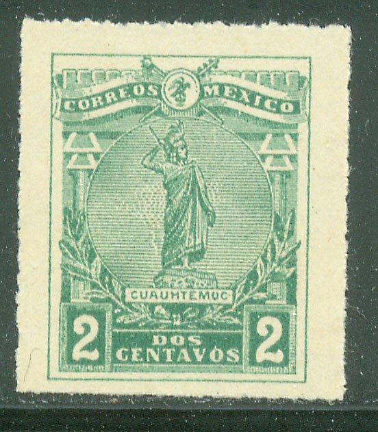 MEXICO 501, 2¢ CUAUHTEMOC, UNUSED, NG. VF.