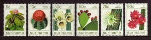 SURINAM/SURINAME 1985 MNH SC.697/702 Cactus