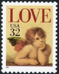2957 Cherub Love F-VF MNH single