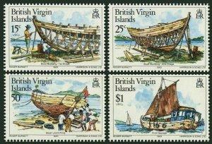 Br Virgin 450-453,453a,MNH.Michel 452-455,Bl.18. Boat Building 1983.