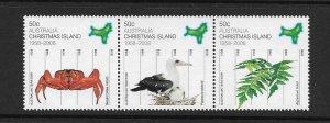 BIRD & CRAB - CHRISTMAS ISLAND #470-2  MNH