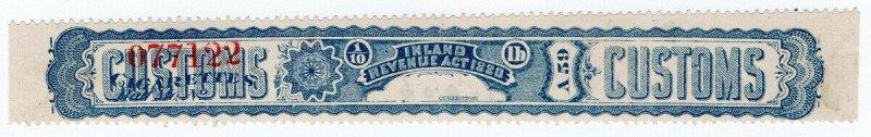 (I.B) Canada Revenue : Cigarette Duty Seal (1897)