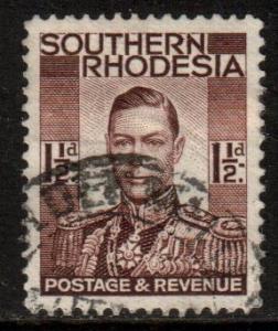 Souhern Rhodesia Scott 44 - SG42, 1937 George VI 1.1/2d used
