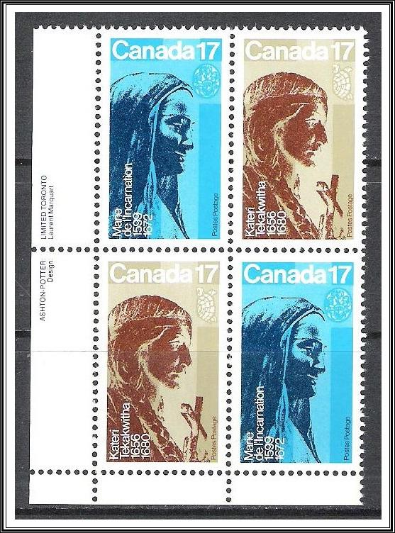 Canada #886a Religious Personalities Plate Block MNH