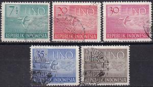 Indonesia #362, 364-7  F-VF Used CV $8.50  Z438