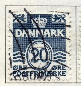 Denmark 1934-53 Early Issue Fine Used 20ore. 221218