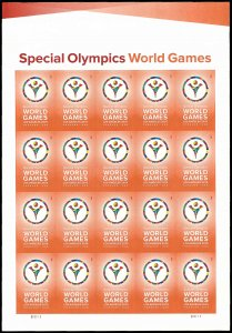 PCBstamps  US #4986 Pane $9.80(20x{49c})Special Olympics World, MNH, (1)