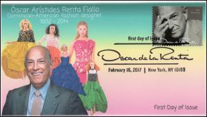 17-048, 2017, Oscar de la Renta, Fashion Design, FDC, Pictorial Cancel,