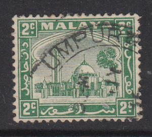 Malaya Selangor 1935 Sc 46 2c green Used