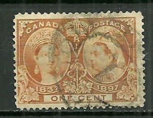 1897 Canada #51  1¢ Queen Victoria used.