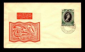 Pitcairn Islands 1953 QEII Coronation FDC - L13154