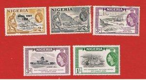 Nigeria #92-96  MVFLH OG  & used  Elizabeth ll  Free S/H
