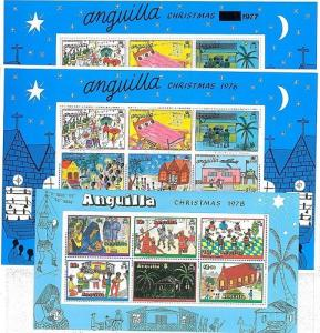 STAMPS - ANGUILLA: CHRISTMAS 1976 1977 1978