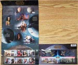 HERRICKSTAMP GREAT BRITAIN Sc.# 3916-25, 3926 Star Wars III Presentation Pack