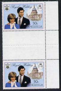 Booklet - Anguilla 1981 Royal Wedding 50c vert gutter pai...