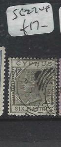 CYPRUS  (P0406B)  QV  6 PI    SG 27   VFU