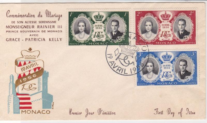 Monaco 1956 Commemorating Royal Marriage Slogan Cancel FDC Stamps Cover ref22053