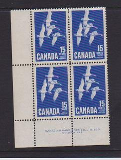 CANADA PLATE BLOCK MNH STAMPS #415 LOT#PB548
