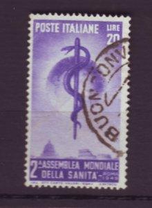 J22627 Jlstamps 1949 italy set of 1 used #522 medicine