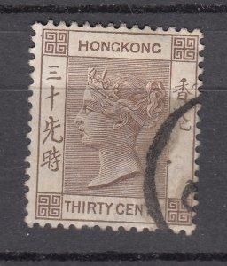 J28267 1882-1902 hong kong used #48 queen wmk 2