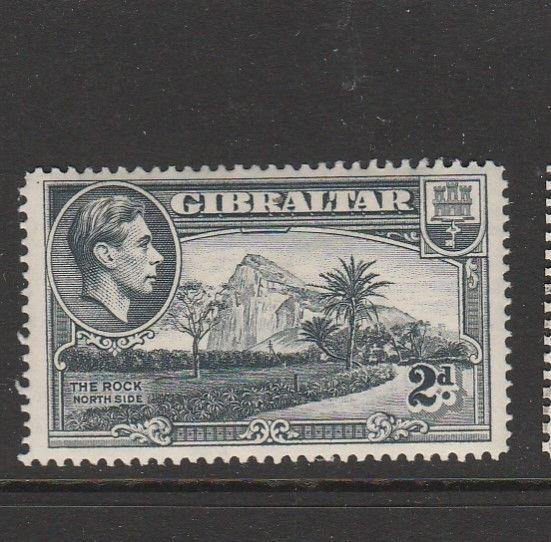 Gibraltar GV1 1938/51 2d P14 MM SG 124